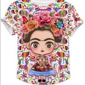 Mirella Boutique Tops - Frida Kahlo Cartoon Shirt S, M, L, XL